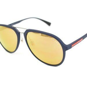 PRADA Sport Navy Blue Logo Mirrored Sunglasses pn